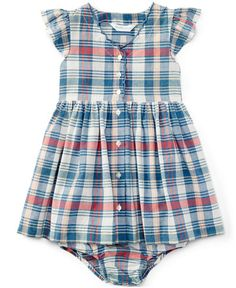 THIS IS SO CUTE, why is it $25?! :-(  -- Ralph Lauren Baby Girls' Plaid Frock & Bloomer
