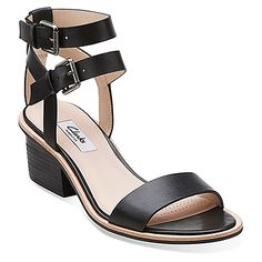 57140a8264934b Clarks Berrick Rock found at  OnlineShoes Black Leather Sandals