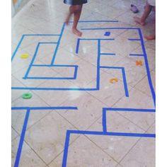 #لعبة #المتاهه الأرضيه بالقفز بقدم واحده  #افكار #العاب #معلمات #رياض_اطفال
