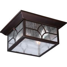 Stanton 2 Light Outdoor Flush Fixture with Clear Seed Glass