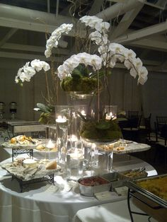 BridgeStreet Gallery and Loft. Catering tables for wedding reception