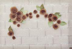 DIY: Paper Flower Backdrop   Green Wedding Shoes Wedding Blog   Wedding Trends for Stylish + Creative Brides