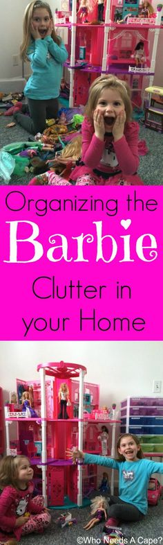 Organizing the Barbie Clutter in your Home with a Brother P-Touch you can easily contain all the Barbie items taking over your home! #sponsored #getorganized