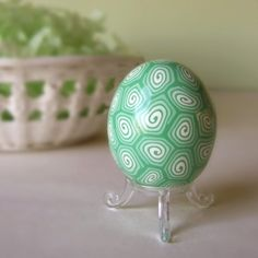 Egg  Polymer Clay mint green by madeinlowell on Etsy, $40.00