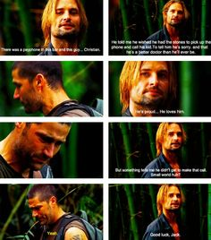 Lost -- Sawyer tells Jack about meeting his dad