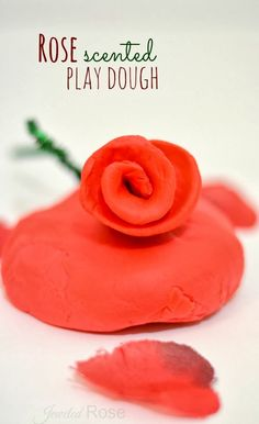 Make rose scented play dough using only a few ingredients and NO COOKING- great for Valentine's Day; FUN ANYTIME!