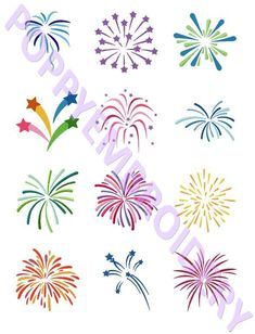 Fireworks Machine Embroidery Design
