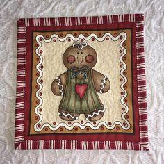 Christmas Gingerbread Girl Mug Rug by KeriQuilts on Etsy