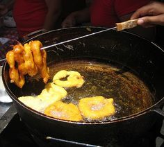Peru - Picarones with chancaca syrup