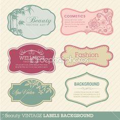 Beauty vintage labels background by tanjakrstevska - Imagen vectorial