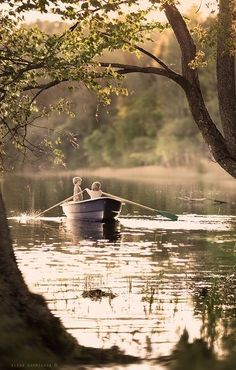 Carefree summer days, boating on a lake, without a care in the world. Beautiful Places, Beautiful Pictures, Jolie Photo, Lake Life, Love And Light, Country Life, Country Living, Wonders Of The World, Serenity