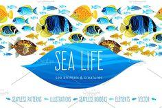 Sea Life by O'Gold! on @creativemarket