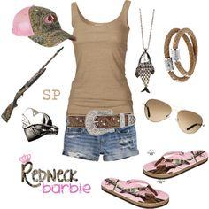 """Redneck Barbie"" by srose38 on Polyvore"