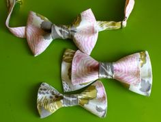 How to Make A Bow Tie- It is for little boys but it would be a perfect tutorial on how to make them (then just attach elastics) to make the puppy bow-ties i pinned before!