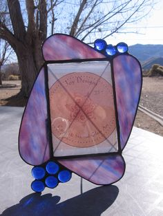 Stained Gass Purple Picture Frame by Wendy Wehe-Ballone of WJoyDesigns $35.00
