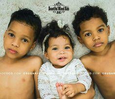 Amari - 6 Years, Auria - 1 Year & Azriel - 3 Years •  Mom: Trinidadian • Dad: African American & Honduran ❤❤❤ FOLLOW @beautifulmixedkids on instagram WWW.STYLISHKIDSAPPAREL.COM