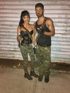 GI Joe & GI Jane couple costumes perfect for Halloween!