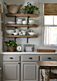 Gorgeous farmhouse kitchen cabinets makeover ideas (65)