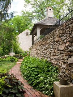 Naturstein Stützmauer Bauen-terrassen Landschaftsbau | Garten ... Mauerwerk Als Sichtschutz Haus Design Idee