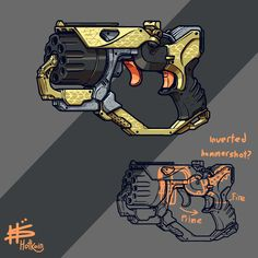 Single action only : Nerf Sci Fi Weapons, Weapon Concept Art, Fantasy Weapons, Drawing Reference Poses, Design Reference, Toy Nerf Guns, Cyberpunk Rpg, Nerf Mod, Desenhos Cartoon Network