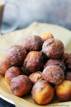 Baked Vanilla-Glazed Donut Holes.