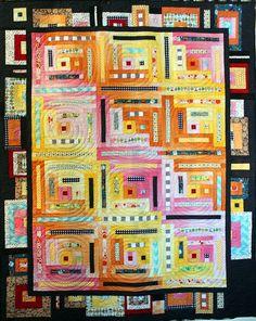 Riley Blake Modern Quilt Guild Fabric Challenge - Modern Log Cabin | by PersimonDreams