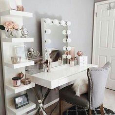 Vanity room ideas makeup vanity decor ideas vanity room decorations throughout vanity room decor ideas interior: Dream Rooms, Dream Bedroom, Diy Bedroom, Stylish Bedroom, Bedroom Small, Bedroom Girls, Girls Bedroom Ideas Teenagers, Small Bathroom, Ikea Bathroom