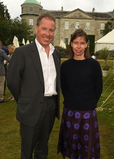 With his sister, Lady Sarah Chatto, in 2016