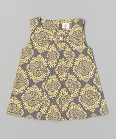 Look what I found on #zulily! Mombasa Damask Pleated Tab Jumper - Infant, Toddler & Girls by with love from africa by kate quinn organics #zulilyfinds
