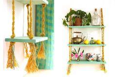 Crea una estantería colgante DIY Flower Pot Crafts, Flower Pots, Flowers, Princess Room, Diy, Ideas Para, Ladder Decor, Shelves, Home Decor