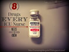 8 Drugs Every ICU Nurse Needs to Know. What drug to give during which arrhythmia. Very important for new ICU nurses to know. Nursing School Tips, Nursing Career, Nursing Tips, Nursing Notes, Nursing Degree, Nursing Programs, Nursing Schools, Rn Programs, Nursing Board
