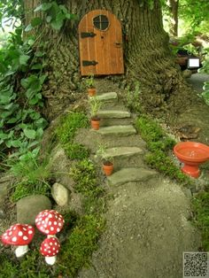 48 #Fantastic Fairy Gardens for Your Yard ... → #Gardening #Fairy