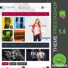 Thème PrestaShop 1.6 responsive Bootstrap pour site de vente en ligne destiné à la mode : hommes, femmes, mixtes, accessoires, vêtements, robes, pantalons…