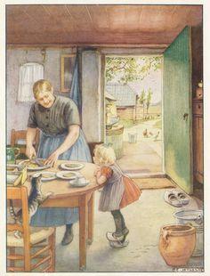 buurkinderen dl 1 - Cornelis Jetses Vintage Book Art, Vintage Artwork, Cottage Art, Fairytale Art, Dutch Artists, Beautiful Paintings, Painting Inspiration, Cute Art, Illustrators