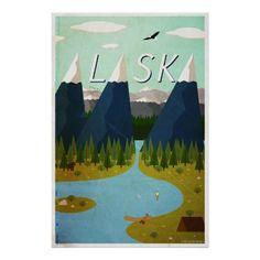 Visite Alaska ! C'était un cadeau de Noël pour mon papa que j'ai fait dans l'illustrateur.