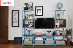 IKEA Shelves - VITTSJÖ TV Stand Hack   Apartment Therapy