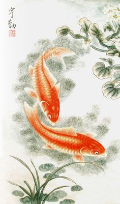 Buy Chinese koi fish paintings & carp scrolls from China. Save compared to your local store by good koi fish painting artists. Koi Painting, Painting Gallery, Chinese Painting, Artist Painting, Koi Art, Fish Art, Carpe Koi, Relaxing Art, Guache