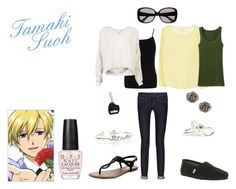 """Tamaki Suoh"" by casualanime ❤ liked on Polyvore featuring Joie, Uniqlo, Burberry, TOMS, Dorothy Perkins, Demylee, Old Navy, M Missoni, Husam el Odeh and OPI"