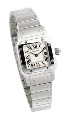 Cartier Women's W20056D6 Santos Stainless Steel Watch: Watches