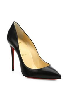 Christian Louboutin - Pigalle Follies 100 Leather Point Toe Pumps