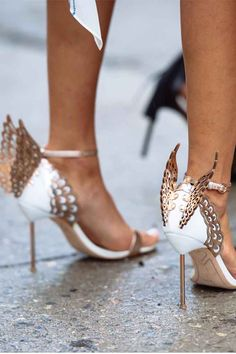 Spread your wings and fly in style with these #SophiaWebster heels #SaksStyle #streetstyle