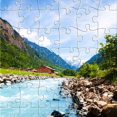 Watch the new #puzzle for today: #Swiss Landscape.  Get it for #free on #Appstore & #GooglePlay and #enjoy one of most #relaxing #puzzle game for #iphone,#ipad and #Android.