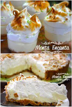 torta-de-limao-copinho individual no copinho ou na forma tamanho familia, Masssa de Bolacha, creme de limão e  marshmallow caseiro