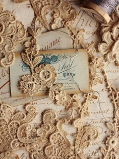 vintage lace appliques - the possbilities are endless ... and inspiring!