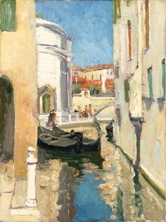 """Venice Canal, Jane Peterson, oil on canvas, 24 x 18"", private collection."