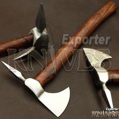 """Knives Exporter New Custom 17"""" Handle Carbon Steel Bearded Felling Axe S509 #Knivesexporter"""