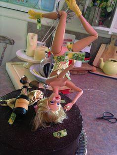 Pole Dancing Stripper Barbie made for my friend Chrissie (Deb).