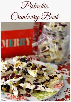 Pistachio Cranberry Bark  #flouronmyface
