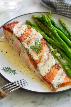 Salmon with Creamy G