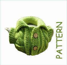 Tea cosy pattern Knitted teapot warmer Gift for granny Easy Knitting Patterns, Easy Patterns, Tea Cosy Pattern, Tea Cozy, Knit Or Crochet, Digital Pattern, Teapot, Tea Cosies, Gifts